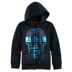 Boys 4-7x Star Wars a Collection for Kohl's Foiled R2D2 Zip Hoodie