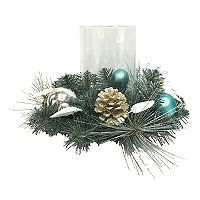 St. Nicholas Square® Coastal Christmas Hurricane Candle Holder