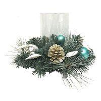 St. Nicholas Square® Coastal Christmas Hurricane Candle Holder