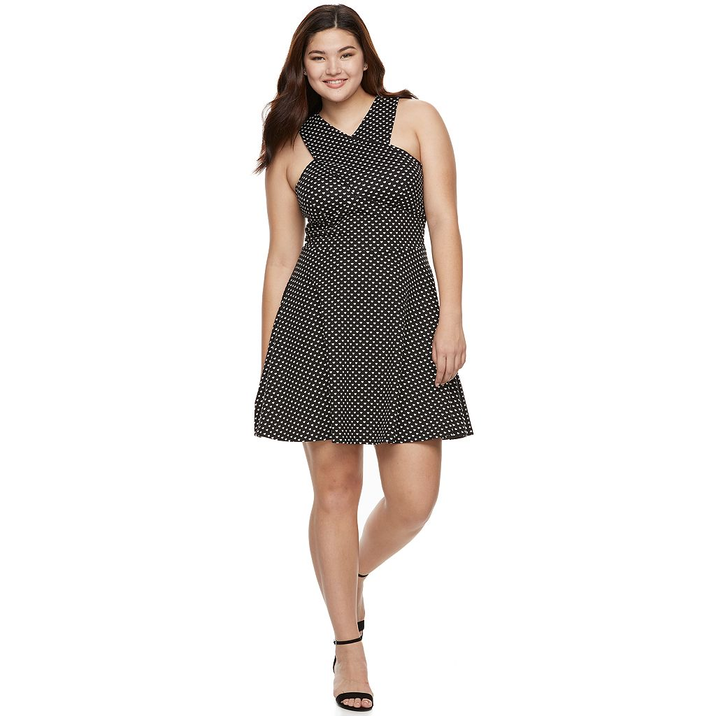 Juniors' Plus Size Candie's® Cross Body Skater Dress