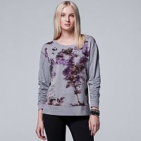 Women's Simply Vera Vera Wang Embellished Floral Top