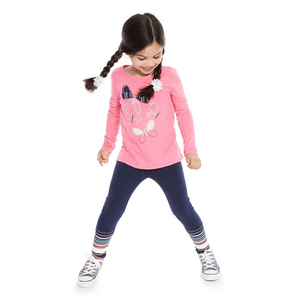 Girls 4-10 Jumping Beans® Long Print Leggings