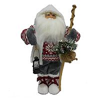 Santa & Lantern 18-in. Christmas Figurine Table Decor