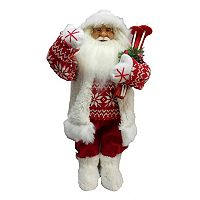 Skiing Santa 24-in. Christmas Figurine Table Decor