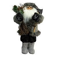 Faux-Fur Santa 18-in. Christmas Figurine Table Decor