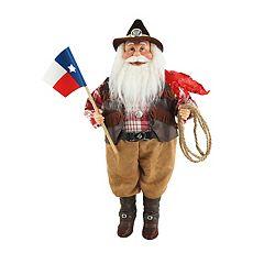 Texas Santa 18-in. Christmas Figurine Table Decor