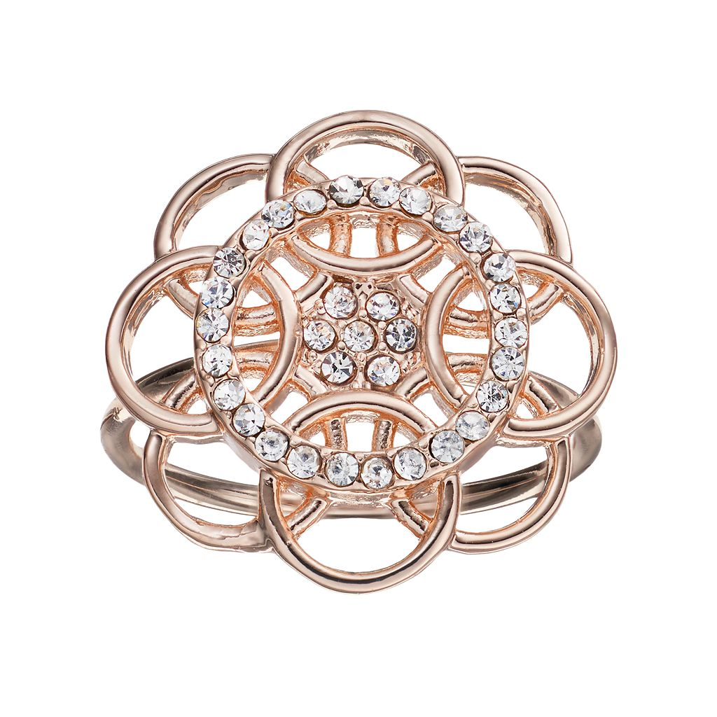 LC Lauren Conrad Overlapping Circle Flower Ring
