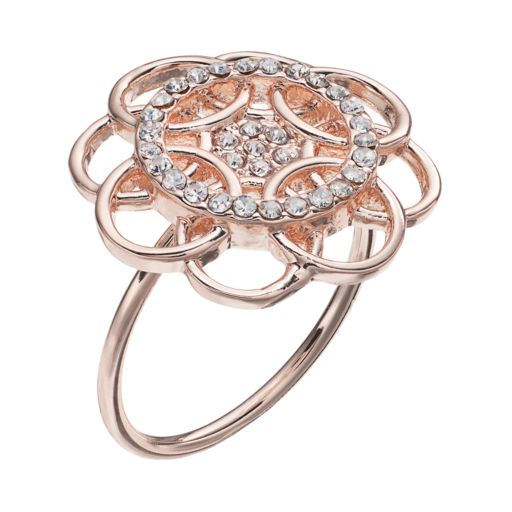 LC Lauren Conrad Overlapping Circle Flower Ring