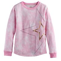 Girls 7-16 SO® French Terry Shine Pullover