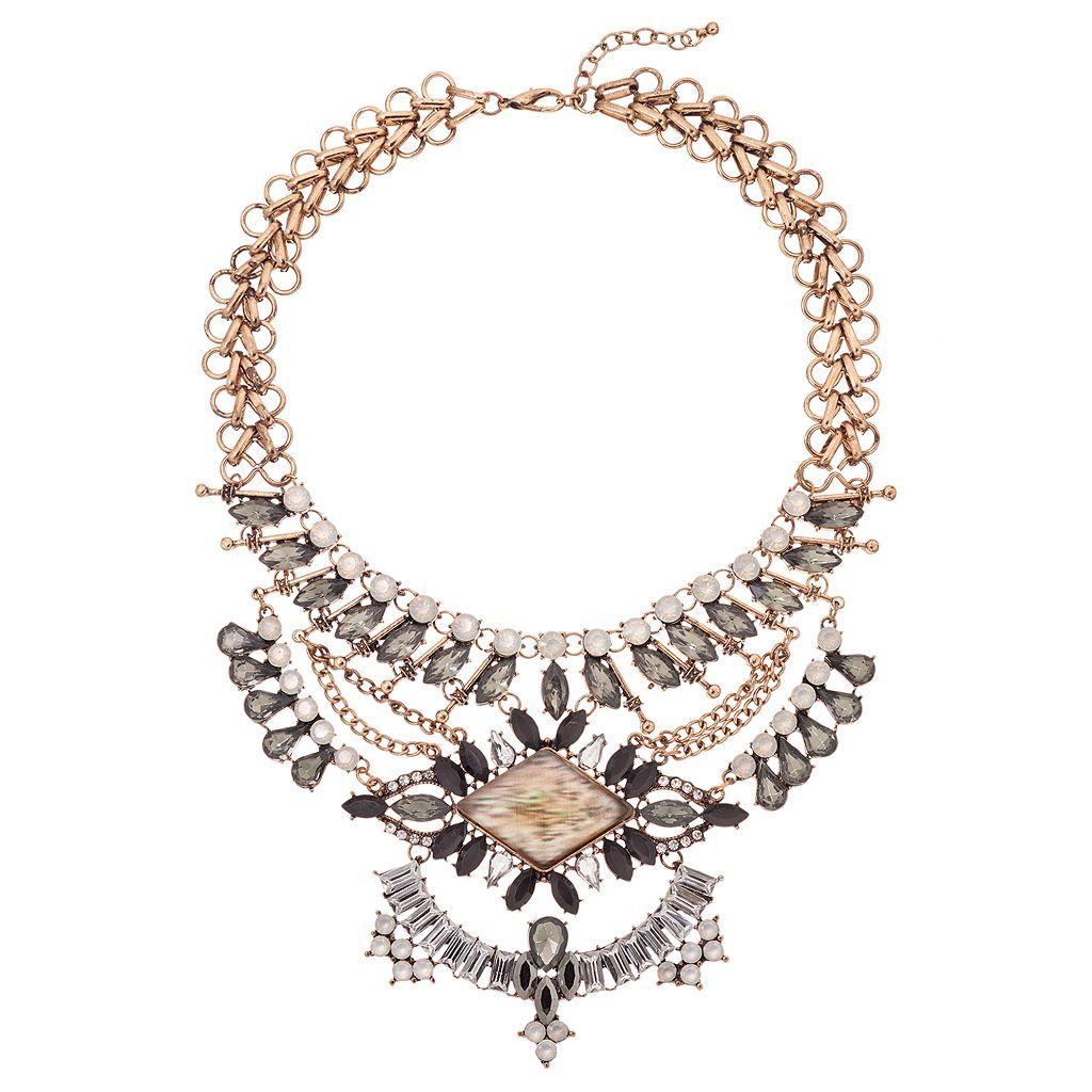 GS by gemma simone Gray Stone Statement Necklace