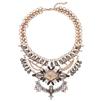 GS by gemma simone Gray Stone Statement Necklace
