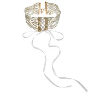 GS by gemma simone Lace Up Choker Necklace