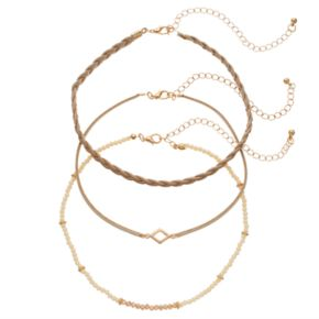 GS by gemma simone Beaded & Braided Choker Necklace Set