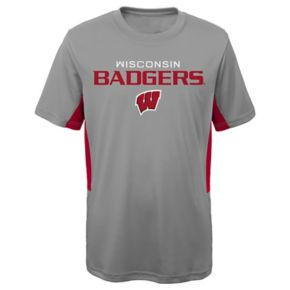 Boys 8-20 Wisconsin Badgers Mainframe Performance Tee
