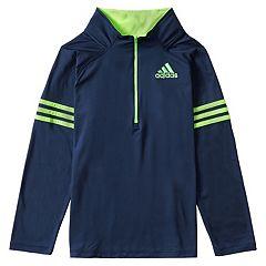 Toddler Boy adidas Navy 1/4-Zip Pullover Top