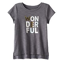 Baby Girl Jumping Beans® Graphic Slubbed High-Low Hem Tee