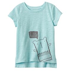Baby Girl Jumping Beans® 'Hello' Bear Graphic Tee