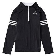 Toddler Boy adidas Black 1/4-Zip Pullover Top