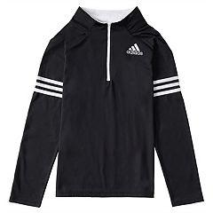 Toddler Boy adidas Black 1/4-Zip Pullover Top