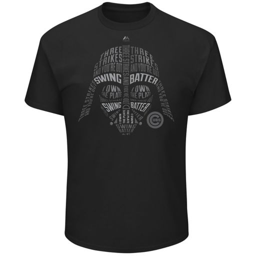 Men's Majestic Chicago Cubs Star Wars Darth Vader Tee