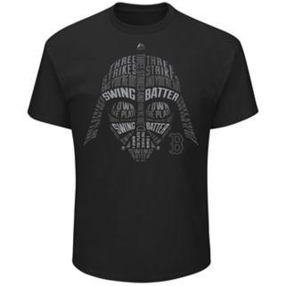 Men's Majestic Boston Red Sox Star Wars Darth Vader Tee