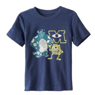 Disney / Pixar Monsters Inc. Sulley & Mike Toddler Boy Slubbed Tee by Jumping Beans®