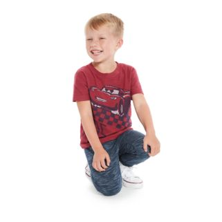 "Disney / Pixar Cars 3 Lightning McQueen Toddler Boy ""Lightning McQueen 95""  Slubbed Tee by Jumping Beans®"