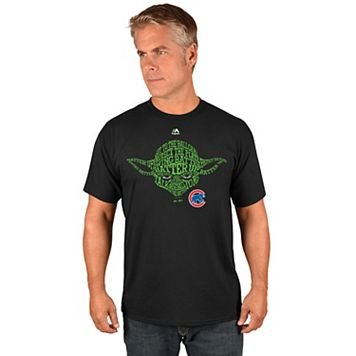 Men's Majestic Chicago Cubs Star Wars Yoda Tee