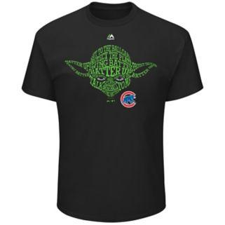 Men's Majestic Chicago Cubs Star Wars Yoda Tee