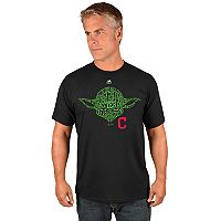 Men's Majestic Cleveland Indians Star Wars Yoda Tee