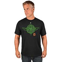 Men's Majestic Detroit Tigers Star Wars Yoda Tee