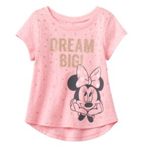 "Disney's Minnie Mouse Baby Girl ""Dream Big"" Glittery Graphic Tee by Jumping Beans®"