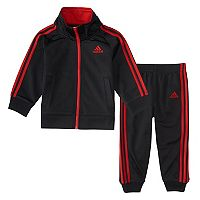 Toddler Boy adidas Tricot Classic Mock Neck Jacket & Pants Set