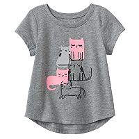 Baby Girl Jumping Beans® Kitty Puff Graphic Tee