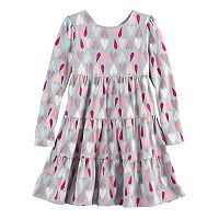 Girls 4-10 Jumping Beans® Long-Sleeved Tiered Dress