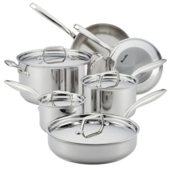 Breville Thermal Pro Clad 10-pc. Stainless Steel Cookware Set