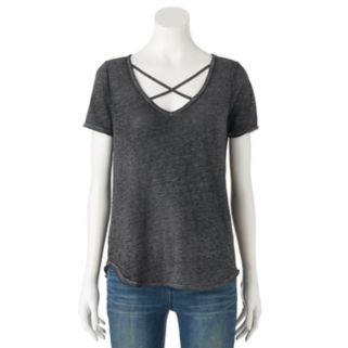 Women's Rock & Republic® Crisscross Tee