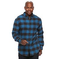Men's Croft & Barrow® True Comfort Plaid Classic-Fit Flannel Button-Down Shirt