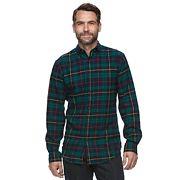 Men's Croft & Barrow® True Comfort Plaid Classic-Fit Flannel Button-Down Shirt