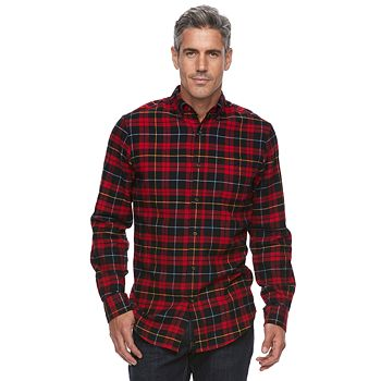 Croft & Barrow Mens True Comfort Plaid Classic-Fit Shirt