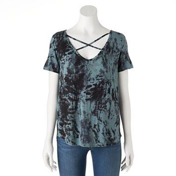 Women's Rock & Republic® Crisscross Tie-Dye Tee