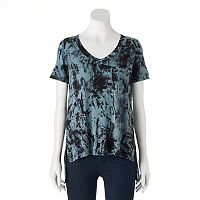 Women's Rock & Republic® Tie-Dye High-Low Tee
