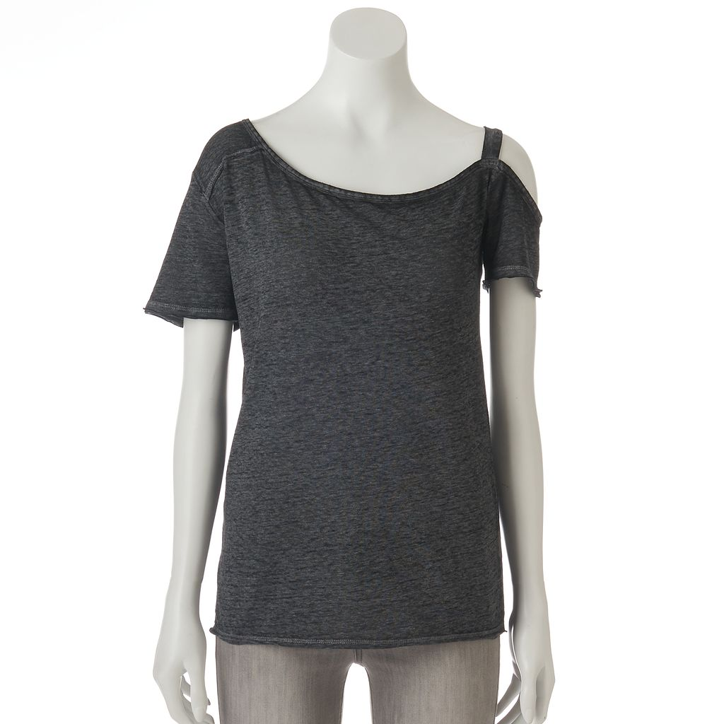 Women's Rock & Republic® Asymmetrical Cold-Shoulder Tee