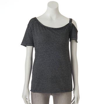 Women's Rock & Republic® Asymmetrical Cold-Shoulder Tee