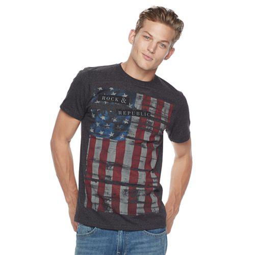 Men's Rock & Republic Textured Flag Tee