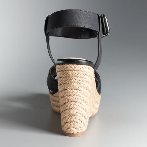 Simply Vera Vera Wang Josephine Women's Espadrille Wedge Sandals