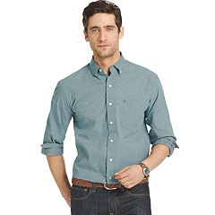 Big & Tall Men's IZOD Signature Slim-Fit Poplin Button-Down Shirt
