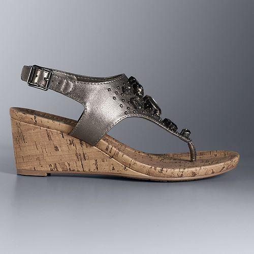 9afe1c57593583 Simply Vera Vera Wang Betty Women s Wedge Sandals