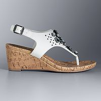Simply Vera Vera Wang Betty Women's Wedge Sandals