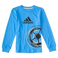 Boys 4-7x adidas Soccer Ball Long Sleeve Tee